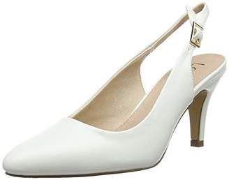 Lotus Women's Lizzie Sling Back Heels, (White Ww), 7 (41 EU)