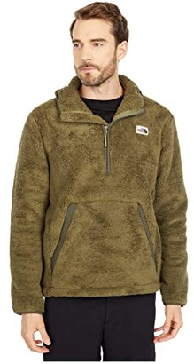 The North Face Campshire Pullover Hoodie (Burnt Olive Green/New Taupe Green) Men's Clothing