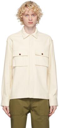 MAISON KITSUNÉ Off-White Hidden Placket Shirt