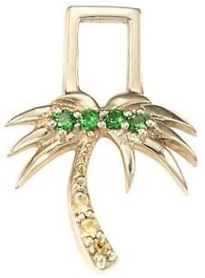 Robinson Pelham EarWish 14K Yellow Gold, Yellow Sapphire & Tsavorite Palm Tree Single Earring Charm