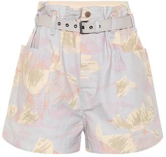Etoile Isabel Marant Rike high-rise cotton and linen shorts