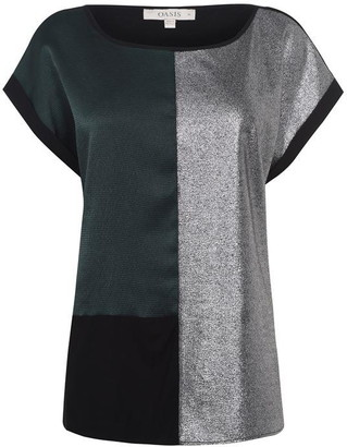 Oasis Curve Colour Block Tee