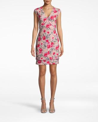 Nicole Miller Spring Garden Scallop V-neck Dress
