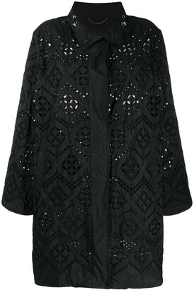 Ermanno Scervino Embroidered Mid-Length Coat