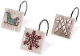 Avanti Holiday Words Shower Hooks Bedding