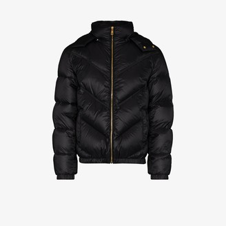Versace Hooded Feather Down Padded Jacket
