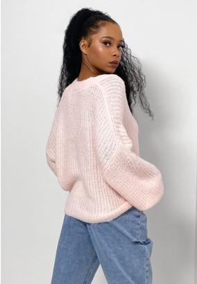 Missguided Fluffy Textured Cardigan - Blush