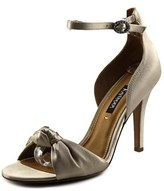 Kay Unger Conyer W Open-toe Canvas Slingback Heel.