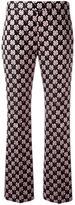Giamba floral jacquard trousers - women - Cotton/Polyester/Acetate - 40