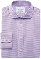 Charles Tyrwhitt Classic fit spread collar star weave purple shirt