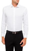 Van Heusen European Fit White Self Stripe Shirt