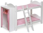 The Well Appointed House Doll Bunk Beds w/Ladder and Storage Armoire