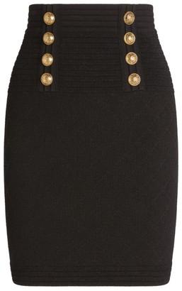 Balmain Diamond-Knit Skirt