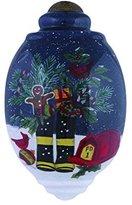 "Ne'Qwa Art, Christmas Gifts, ""Fireman's Boots"" Artist Susan Winget, Petite Trillion-Shaped Glass Ornament, #7151161"
