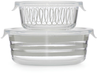 Kate Spade Charlotte St Round Dishes With Lids, Set Of Two