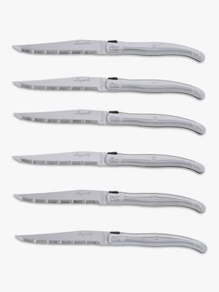 Laguiole Steak Knives, Stainless Steel, 6 Piece
