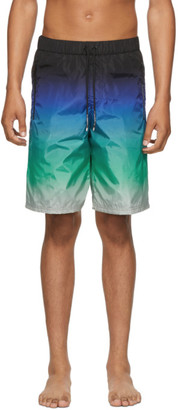 Givenchy Blue and Green Basic Shorts
