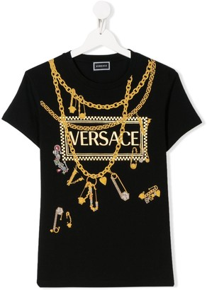 Versace TEEN Bling-print T-shrit