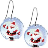 Body Candy Snow Globe Santa Claus Earrings
