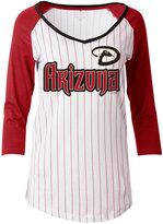 5th & Ocean Women's Arizona Diamondbacks Pinstripe Glitter Raglan T-Shirt