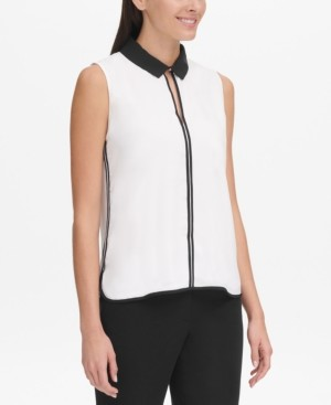 Tommy Hilfiger Sleeveless Collared Top