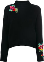 Ermanno Scervino embroidered roll-neck jumper - women - Cashmere/Virgin Wool - 40
