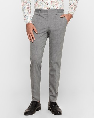Express Extra Slim Gray Stretch Wrinkle-Resistant Dress Pant