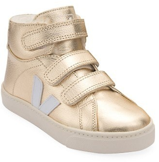 Veja Baby's, Little Kid's & Kid's Metallic Leather High-Top Faux Fur-Lined Sneakers