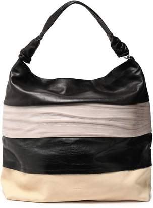 Rick Owens Paneled Color-block Leather Tote