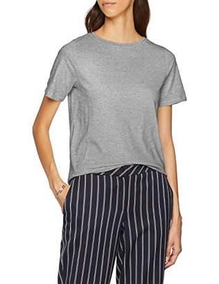 H.I.S Women's T-Shirt, (Light Grey Melange 8019), M