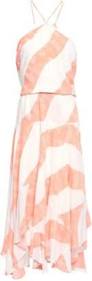 Vix Paula Hermanny Asymmetric Striped Voile Dress