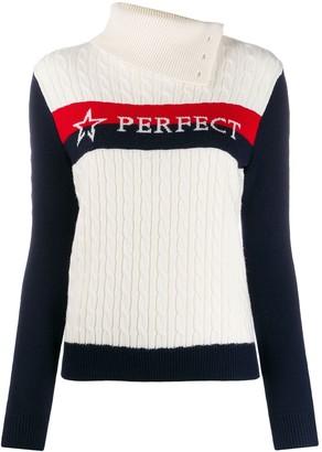 Perfect Moment Super Stripes cable-knit jumper