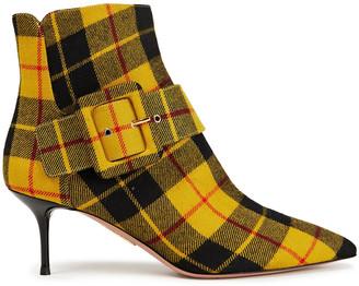 Aquazzura Bailey 60 Checked Cotton-twill Ankle Boots