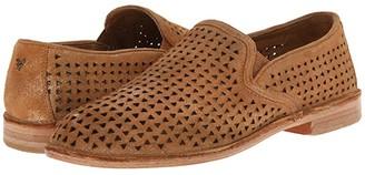 Trask Ali Perf (Gold Italian Metallic Suede) Women's Slip on Shoes