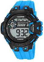Calypso Men's Digital Watch with LCD Dial Digital Display and Turquoise Plastic Strap K5696/2