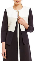 Kasper Stretch Crepe Colorblock Jacket