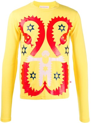 Walter Van Beirendonck Pre-Owned 2009 snake printed long-sleeved T-shirt