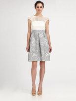 Kay Unger Lace & Jacquard Dress