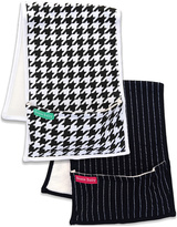 Black & White Houndstooth Burp Cloth Set