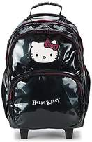 Hello Kitty CLASSIC DOTS SAC A DOS 2 COMPARTIMENTS TROLLEY Black