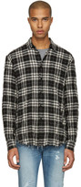 Saint Laurent Black Check Wrinkled Shirt