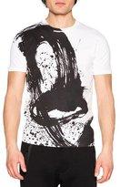 DSQUARED2 Paintbrush Graphic T-Shirt, White