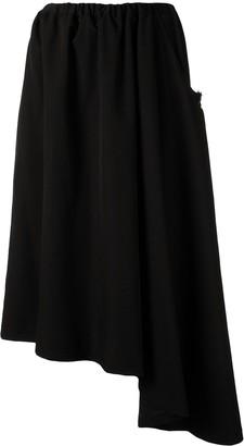 Y's knitted asymmetric midi skirt