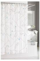 "Kassatex Poppy Shower Curtain Blue/Grey (74""x74"")"