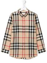 Burberry checked shirt - kids - Cotton - 14 yrs