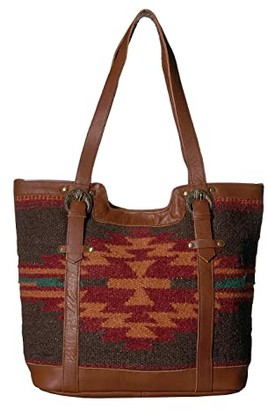 Scully Aurora Woven Tote (Multi Brick/Black) Handbags