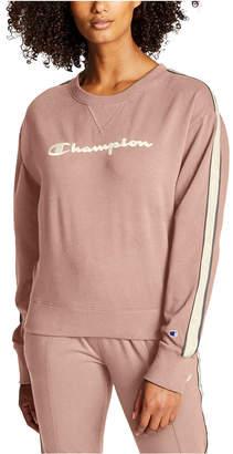 Champion Women Heritage Varsity-Stripe Sweatshirt