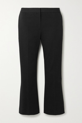 Theory Cropped Cotton-blend Twill Tapered Pants - Black