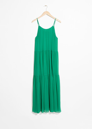And other stories A-Line Pleated Maxi Dress