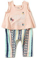 Jessica Simpson Baby Girls 12-24 Months Sunshine Baby Tank Top & Striped Pants Set
